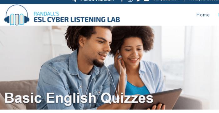 Randall ESL. Basic English quizzes.