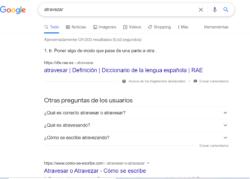 Consulta ortografia google